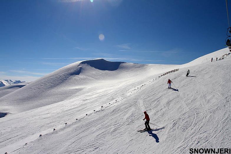 Happy skiers, Popova Shapka