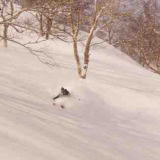 Above the chairlift, Kurodake