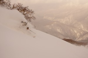 Bowl above chairlift, Kurodake photo