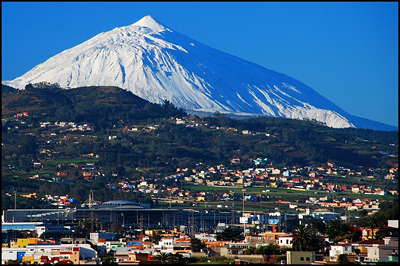 Mount Teide snow
