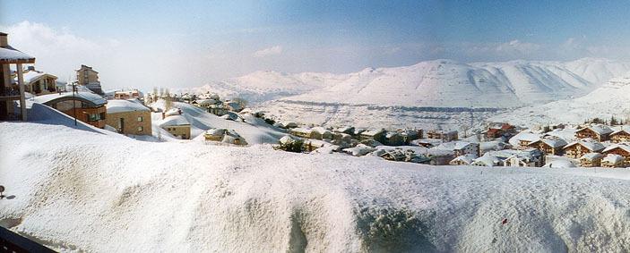 Faray view from Chalet Abu Nassar & Schray, Mzaar Ski Resort