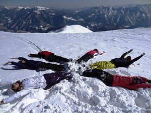 Montecampione fun in snow photo