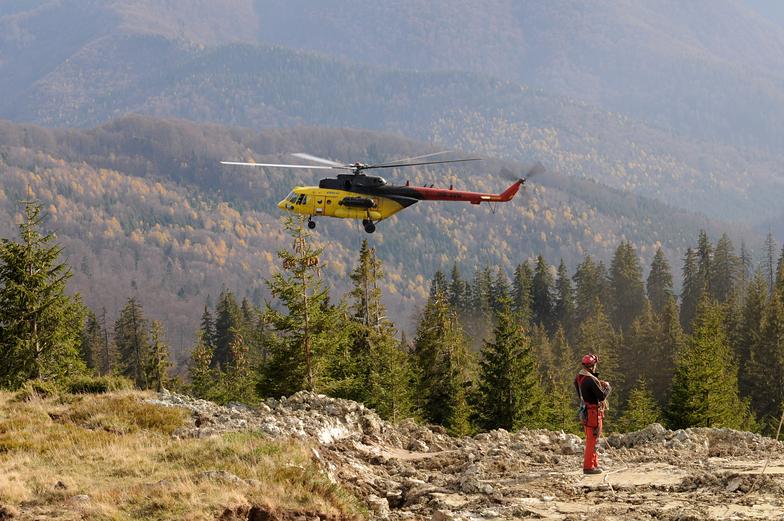 Helicoper Mi 171 in Muntele Mic