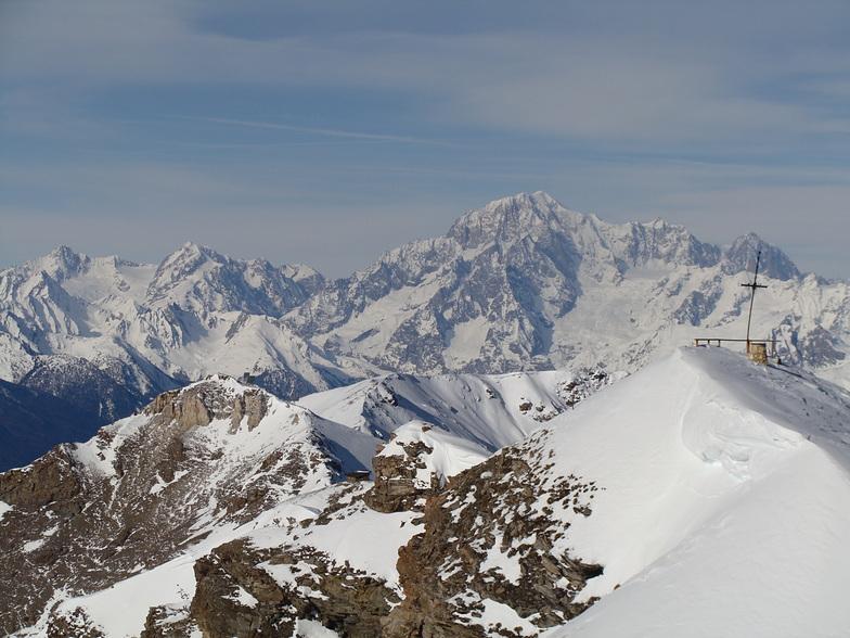 sua maestà il Monte Bianco visto da Pila