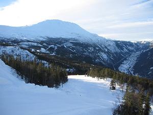 View down to Rjukan, Gaustablikk photo