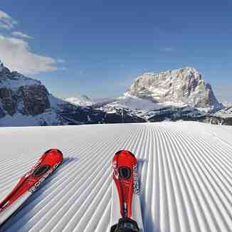 Perfect groomed slopes!, Val Gardena