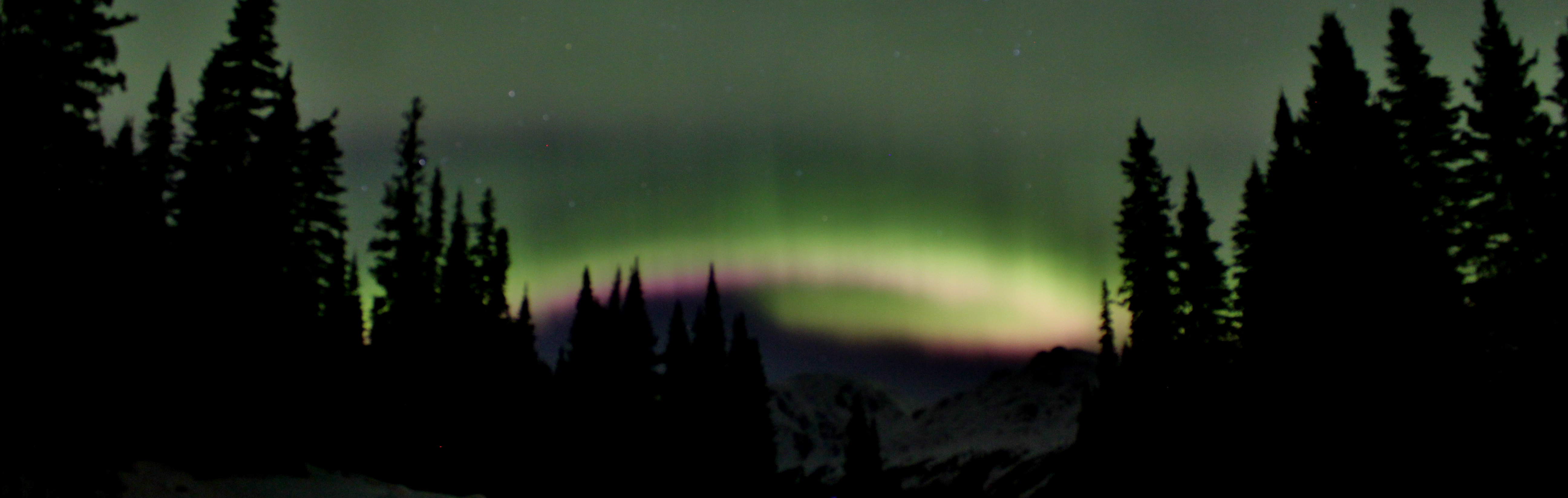 Northern Lights Above the Mountains, Powder King