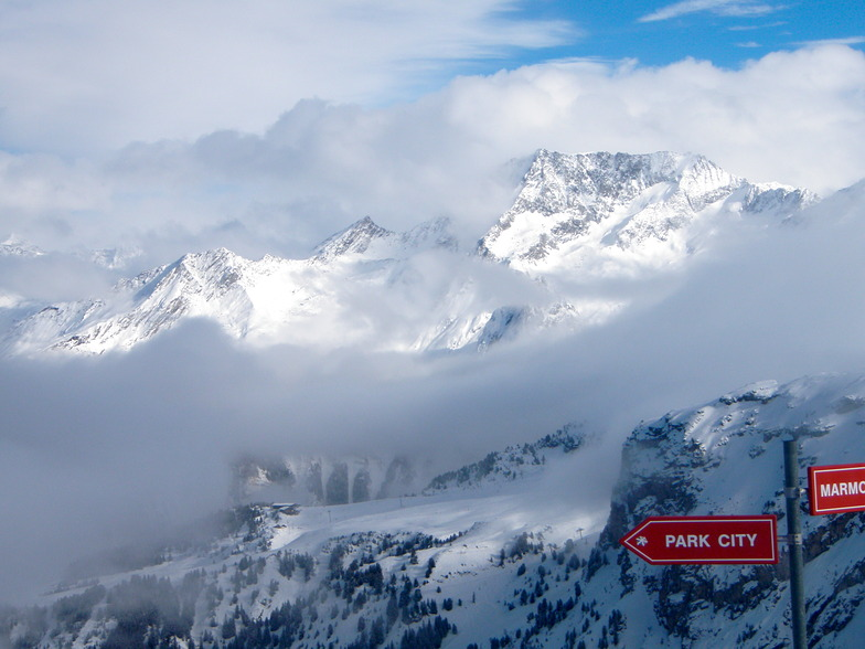 Getting above the clouds, Méribel