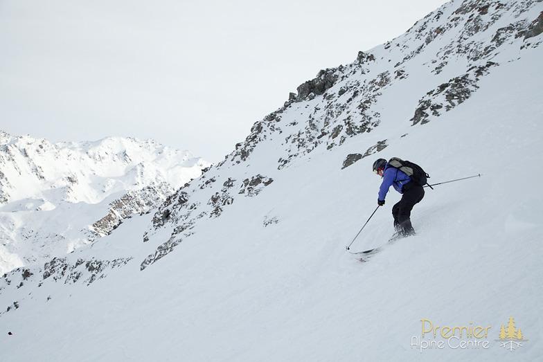 Skiing Chassoure itinerary, Nendaz