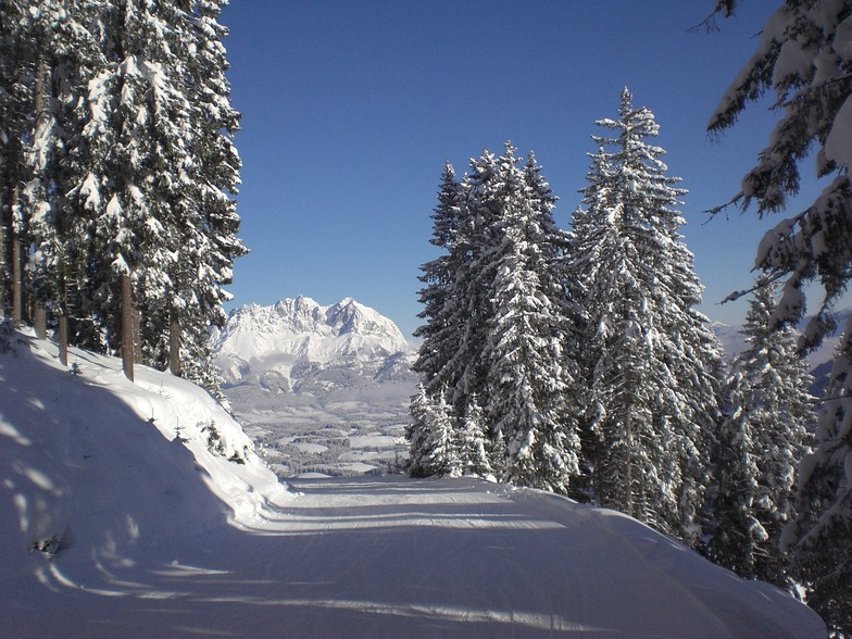 Wilde Kaiser from the Streif, Kitzbühel