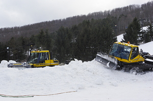 Snow Cats at Work, Toggenburg Mountain photo