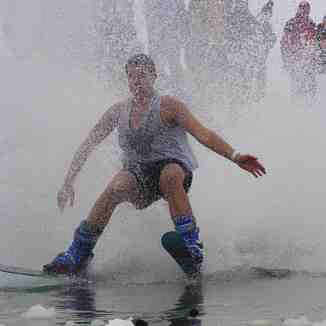 Pond Skimming Success, Toggenburg Mountain