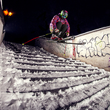 Radim Palan skiing Petrin, Czech Republic