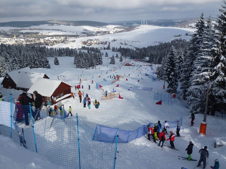 Skicross race in Klinovec, Klínovec