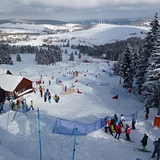 Skicross race in Klinovec, Czech Republic