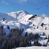 Snowy peaks in Grasgehren, Germany