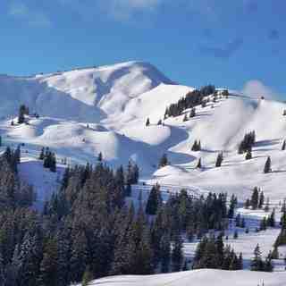 Snowy peaks in Grasgehren, Grasgehren/Bolgengrat