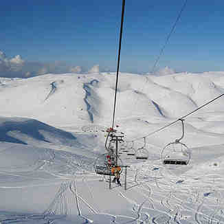 La Cabane slope in Faraya, Lebanon, Mzaar Ski Resort