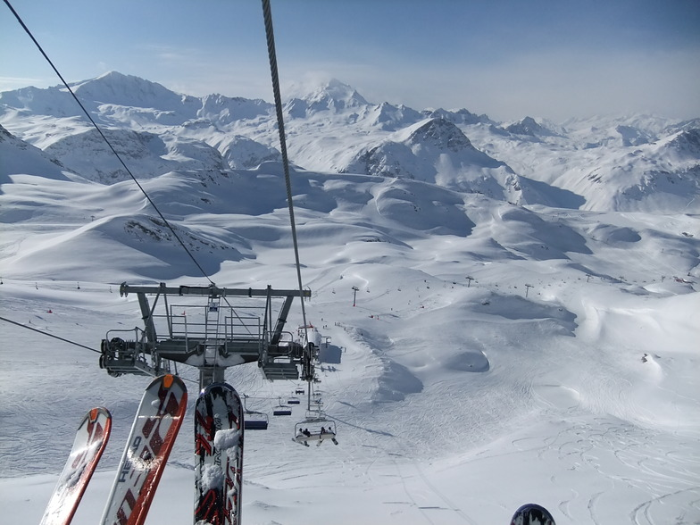 scariest chair lift, Val d'Isere