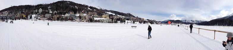 forozen lake of st moritz