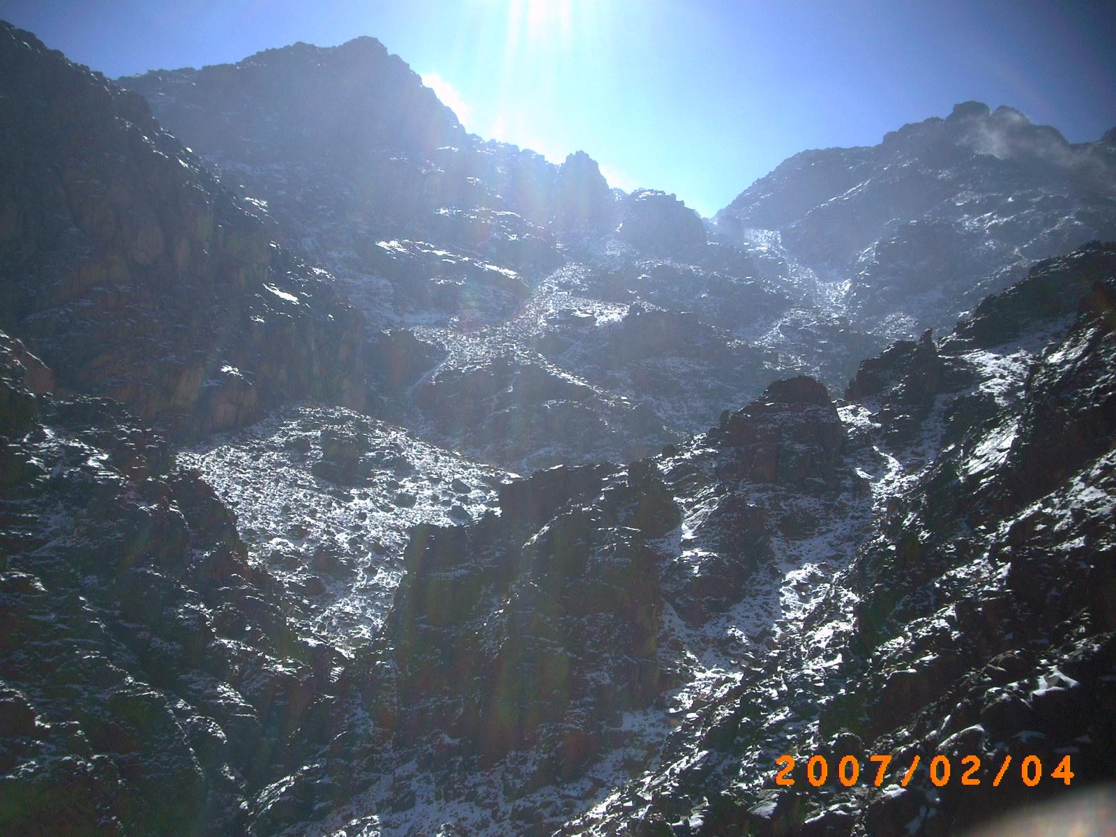 This view is the summit of Mt Katherine, Egypt, Jabal Katherina