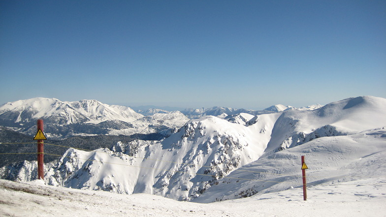 View from Styga top, Kalavryta Ski Resort