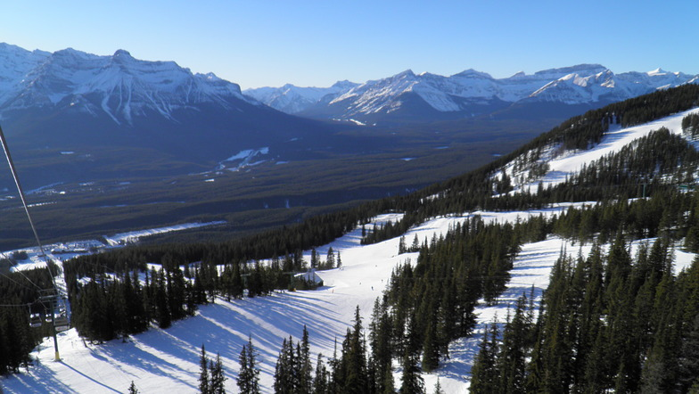 View from the top of the Grizzly Express, Lake Louise