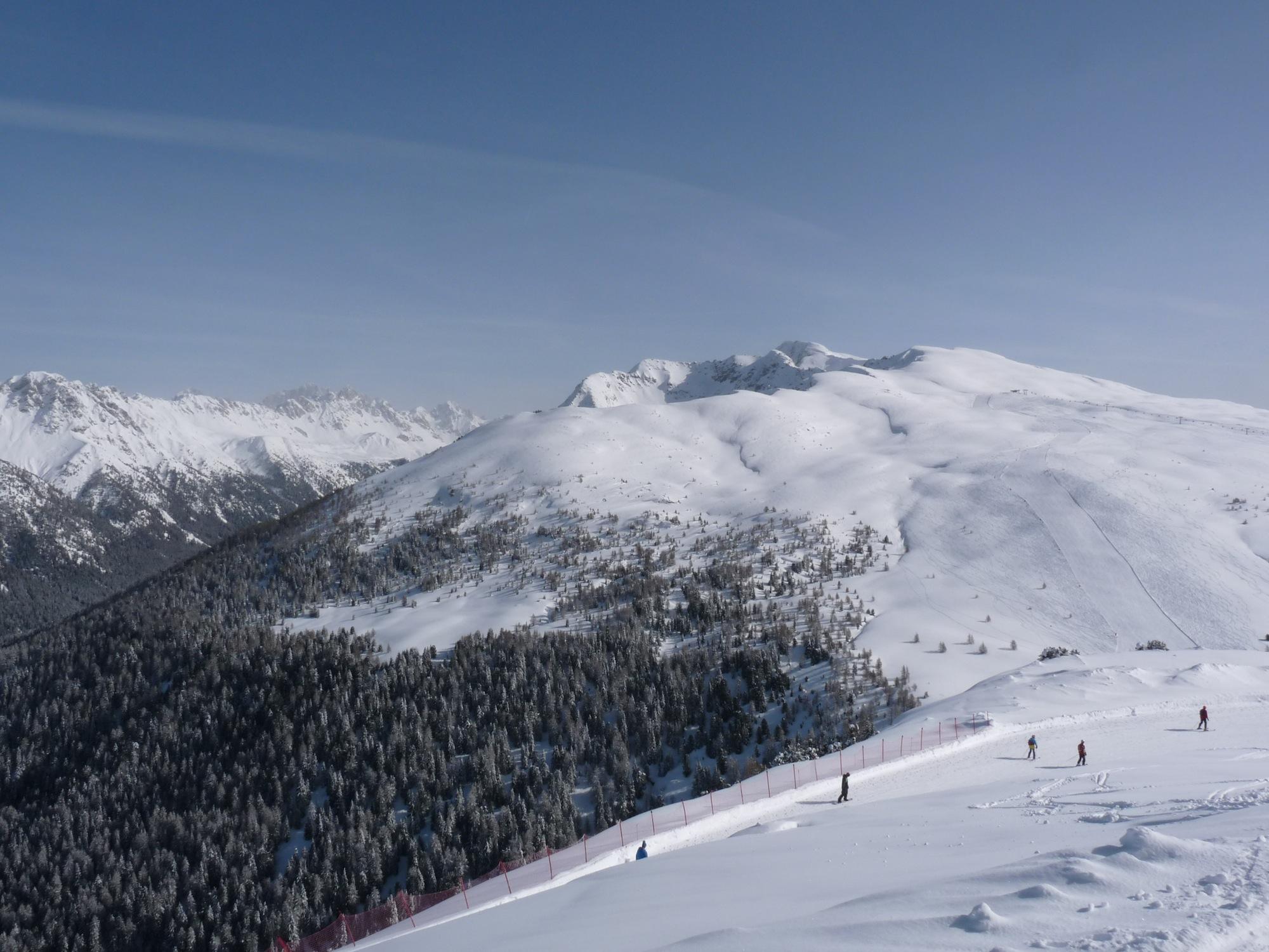 Top of Le Cune lift, Ski Area Alpe Lusia