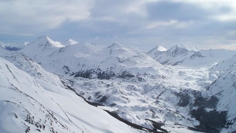 Valle interno del cerro castor