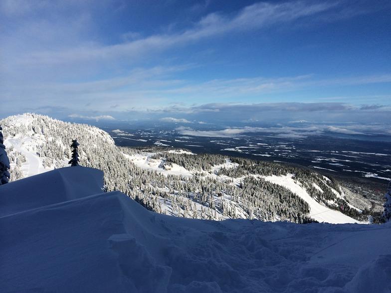 skiing wind blown snow to little washington, Mount Washington