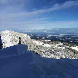 skiing wind blown snow to little washington, Mount Washington