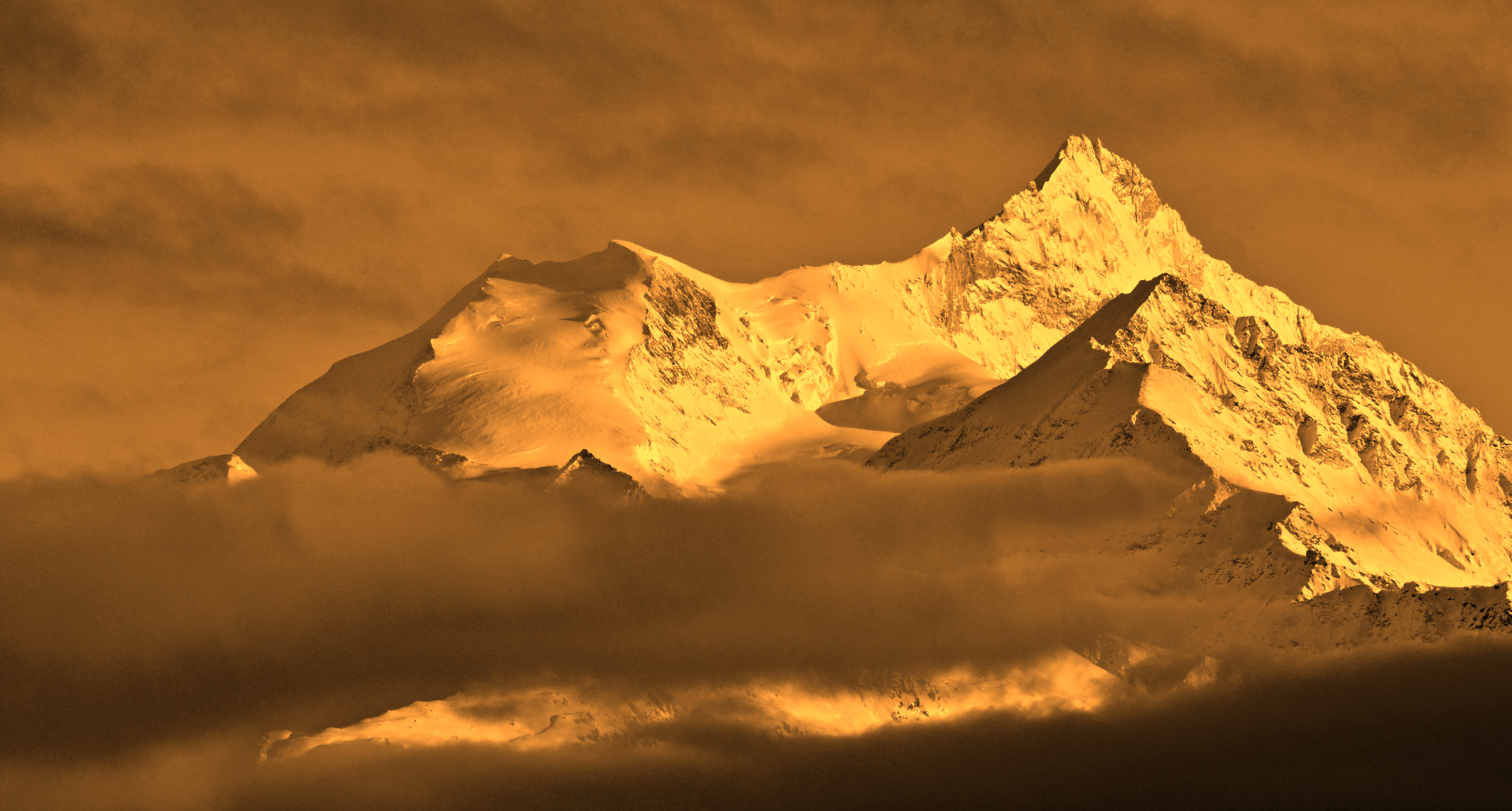 Sunset view from Crans Montana
