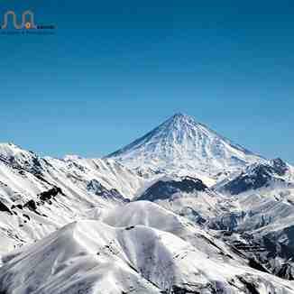 Look at Damavand Peak Dizin