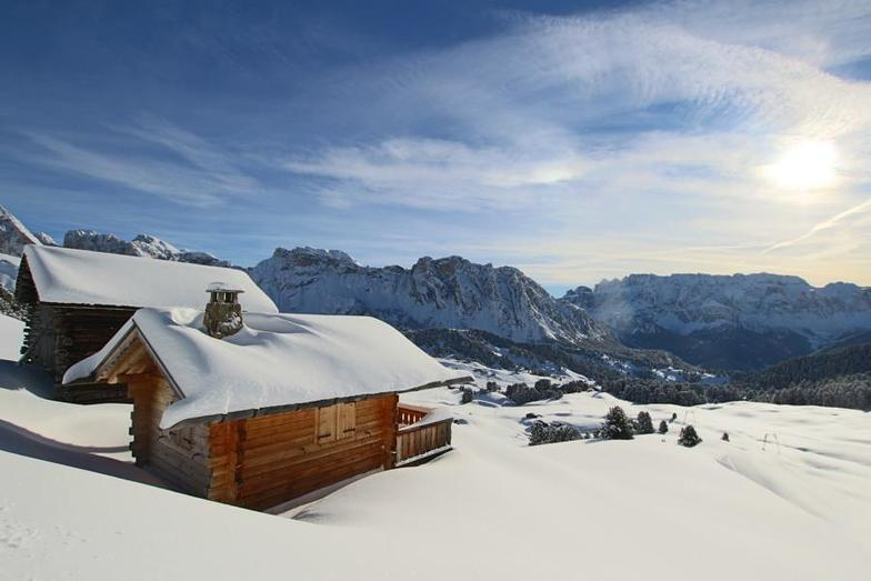 Snowy Mountains in Val Gardena