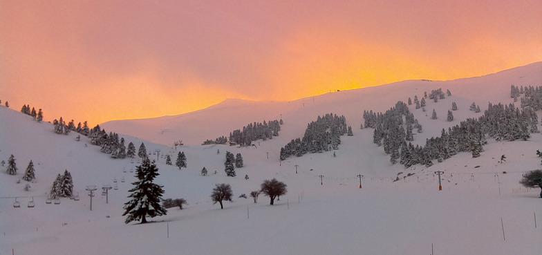 Helmos Greece Sunset, Kalavryta Ski Resort