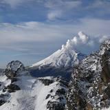 Popocatepetl volcano, Mexico., Mexico - Puebla