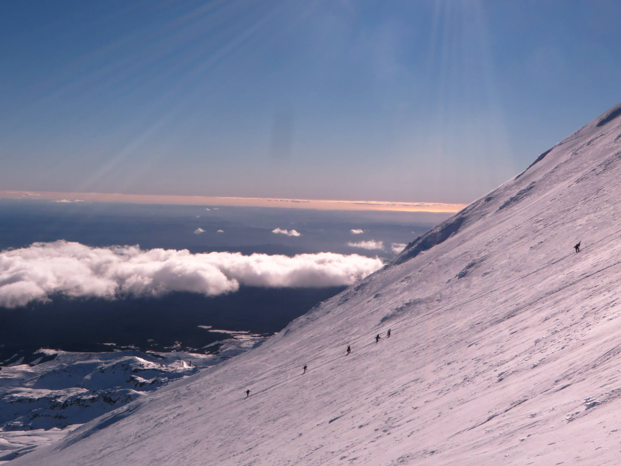 summit hike, Turoa