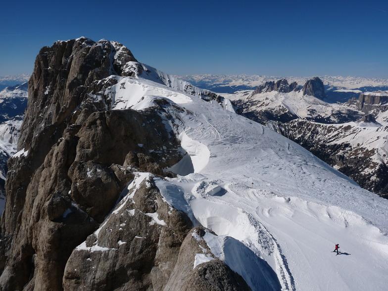 From Marmolada summit, Malga-Ciapela/Marmolada