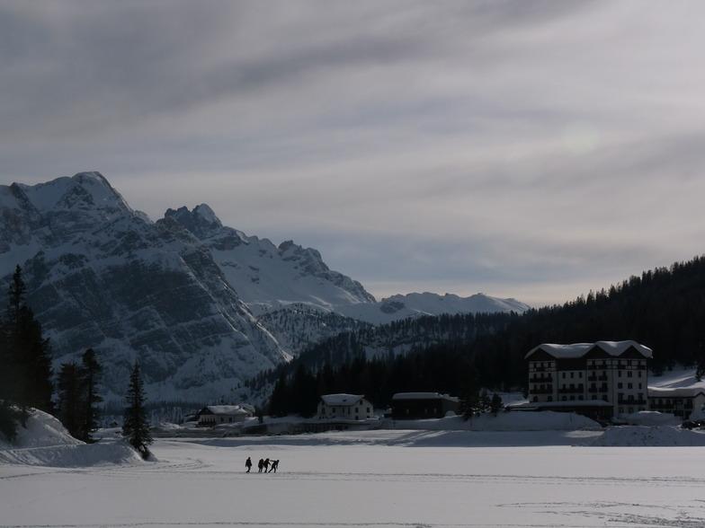 Misurina frozen lake