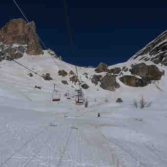 Empty slopes, empty chairs, Cortina