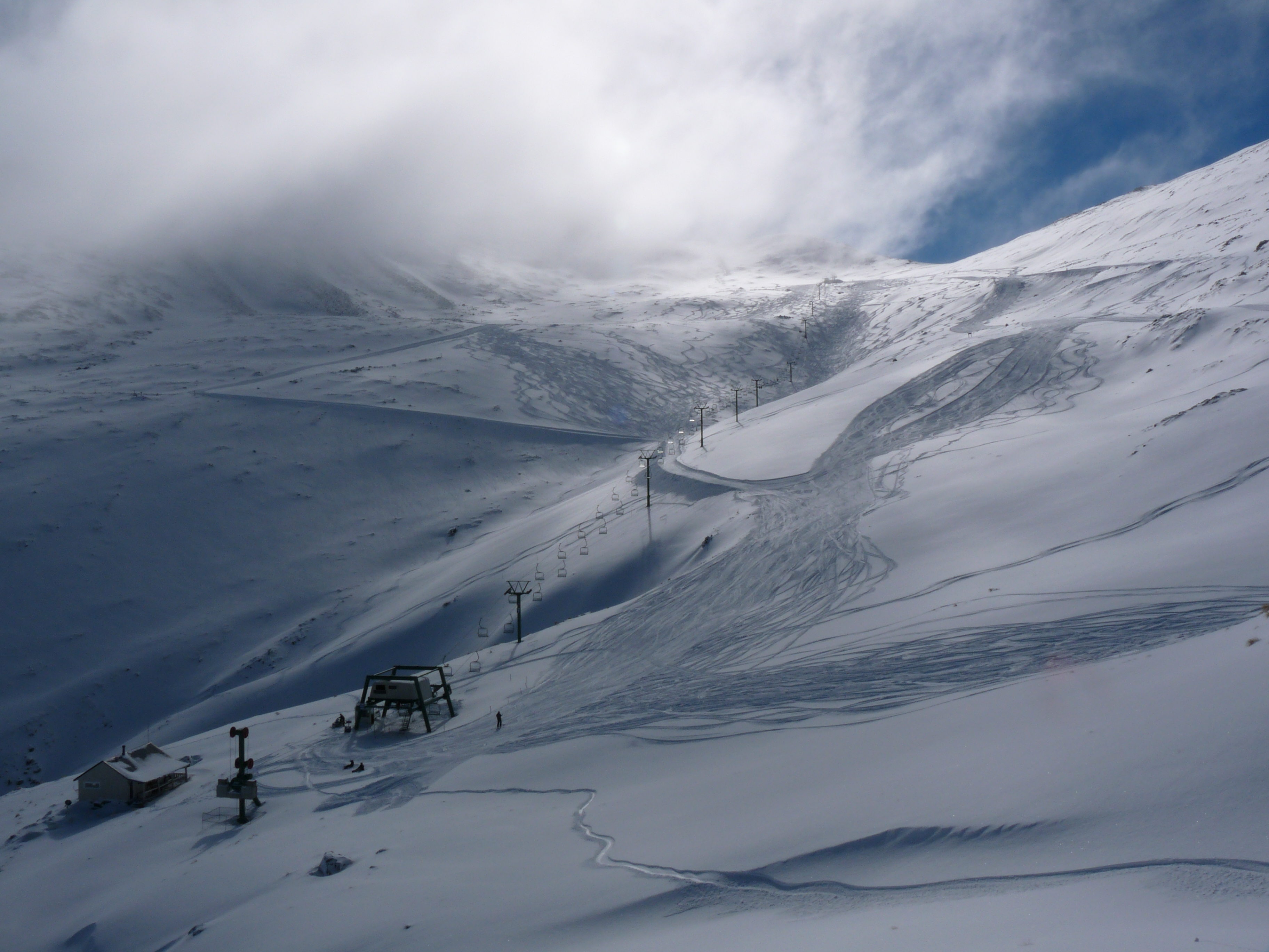 Fresh snow day at Dobson, Mount Dobson