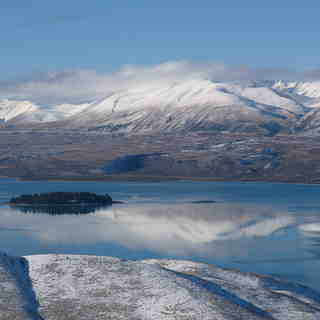 Mount Dobson Snow: Lake Tekapo