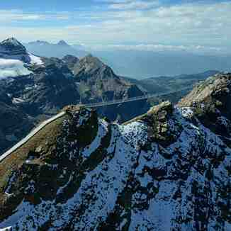 Peak Walk from the chopper, Gstaad Glacier 3000