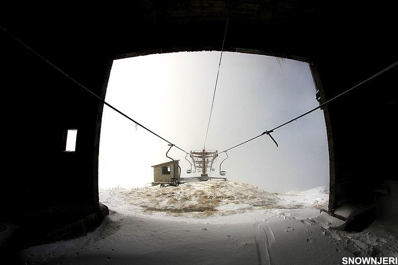 One seated lift, Brezovica
