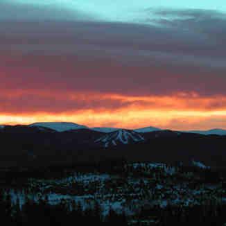 SunRISE above Keystone, Colorado