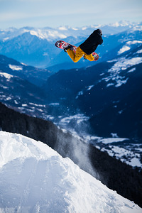 Michi Kessler with a huge Backside Air in Disentis photo