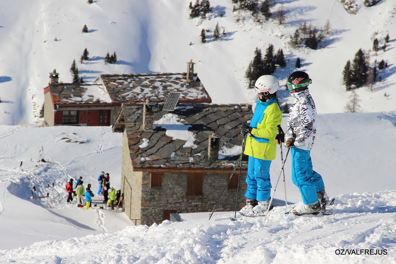 skieurs chalets, Valfrejus