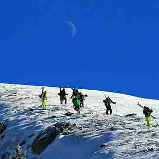 Hiking under the moon, Brezovica
