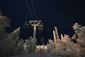 Pyha at Night, Pyhä Ski Resort photo