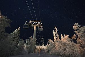 Pyha at Night, Pyhä Ski Resort photo